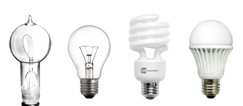 resistance to change demonstrated by the unchanging shape of light bulbs from Edison to current LED bulbs